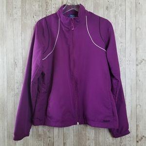 Reebok Purple Windbreaker Athletic Jacket
